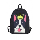 Crown Dog Printed Fashion Backpack School Bag