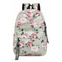 Trendy Floral Printed Backpack School Bag