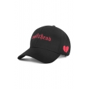 Fashion Heart Letter Embroidered Baseball Hat