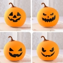 Wireles Silicon Gel Halloween Pumpkin Easy Tap Night Light 4 Styles for Option