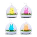 USB Chargeable Totoro Kids Bedroom Night Light with Clear Glass Shade in Pink/Yellow/Blue/Orange