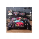 Animal Tribal Printed Three Pieces Bedding Sets Duvet Cover Set Bed Pillowcase