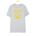 I NEVER GOT MY ACCEPTANCE Letter Printed Round Neck Short Sleeve Tee
