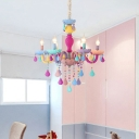 Modern Chandelier Lighting Crystal Ceiling Light Candle Small Chandelier Kid Chandelier
