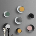 Flared 1 Light Wall Sconce Post Modern Black/Grey/Pink/Yellow/White Metallic Wall Mount Light