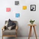 Square Wall Light Fixture Colorful Macaron Metal LED Wall Sconce for Corridor Bedroom