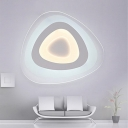 Egged Shape LED Kids Room Flush Ceiling Light with Cool Light