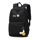 DAY Letter Sun Printed Backpack School Bag