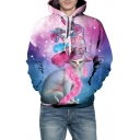 3D Elegant Hat Cat Printed Long Sleeve Hoodie