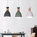 Nordic Simple Style One Light Mini Pendant for Bar and Cafe in White/Green/Grey