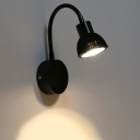 Industrial Wall Sconce with Extendable Fixture Arm, Black