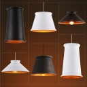 One Light Simple Style Pendant for Restaurant Dining Room (Black/White/Distressed Iron for Option)