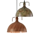 Aged Metal Bronze 1 Light Pendant Lamp in Retro Style for Cafe Restaurant 2 Designs for Option