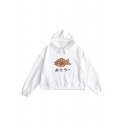 Japanese Fish Printed Long Sleeve Leisure Hoodie