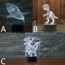 Boys Bedroom Acrylic Shark/Dinosaur/Triceratops Night Light  with Button Switch/Usb Touch/Remote
