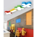Plus/Minus/Multiply/Divide Flushmount Contemporary Kindergarten Acrylic Decorative LED Lighting Fixture