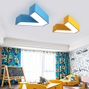 Letter V Ceiling Light Modernism Simple Acrylic Pendant Lamp for Children Bedroom