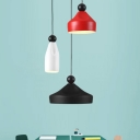 Special Design Modern Style Hanging Lamp in White/Red/Black 3 Designs for Option