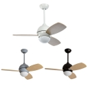 Nordic Style 13.39 Inch Ceiling Fan Downrod in Grey/Black/White Macaroon Kids Bedroom Ceiling Fan