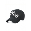 PLAY Letter Embroidered Chic Unisex Baseball Hat