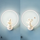 Cupid Angle with Ring Wall Light for Kids Room 2 Types Avaiable