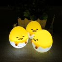 Stand Anywhere Emoji Egg Shape Battery-Operated Kids Night Light in Yellow