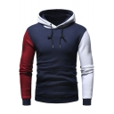 Color Block Slim Leisure Long Sleeve Hoodie