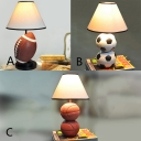 Fabric Tapered Table Light with Basketball/Football/Rugby Sports Theme 1 Light Table Lamp