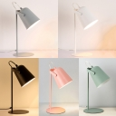 Metallic Cup Shade Reading Light Colorful Contemporary 1 Head Desk Lamp for Bedside Kids Room