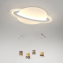 Globe Boys Room LED Flush Ceiling Lamp White/Warm Light