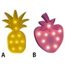 Lovely Led Mini Pineapple/Strawberry Girls Bedroom Night Light