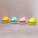 USB Chargeable lIittle Bird Kids Bedroom Night Light with Clear Glass Shade 4 Colors Available