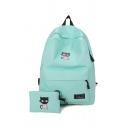 Unisex Cat Printed School Bag Backpack