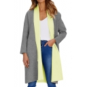 Trendy Lapel Collar Long Sleeve Tunic Coat