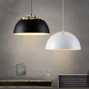 Modern Simple Style Dome Shade One Light Ceiling Pendant Light for Restaurant Dining Room