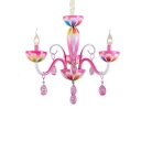 Art Deco Small Crystal Tadpoles Kid Bedroom Dining Room Crystal Chandelier Indoor