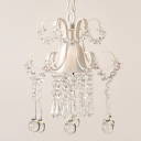 French Chandelier 1 Light Crystal Balls Hanging Pendant Light Dining Room Pendant