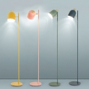 Adjustable Metal Floor Light with Elongated Dome Modern Fashion 1 Light Standing Light for Kids