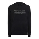 THE WORLD HAS BIGGER PROBLEMS Letter Printed Long Leisure Hoodie