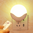 New Light/Voice/Remote Control Led Plug-In Night Light in Round Shape