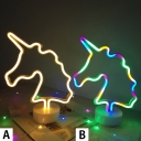 New Unicorn Neon Light Battery Operated/USB Kids Night Light in Plastic