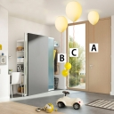 Modern LED Kids Room 1/3 Light Ceiling Pendant Lamp in Ballon Shade