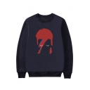 Hip Hop Style Character Printed Round Neck Long Sleeve Sweatshirt