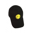 Smile Face Embroidered Leisure Unisex Baseball Hat
