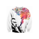 Character Imagine Printed Round Neck Long Sleeve Sweatshirt