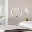 Creative Design White Round Wall Lamp with Two Angles