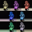 Touch Switch Turtle Acrylic Night Light 3D for Boys Bedroom