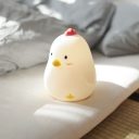 Wireless New Rubber Chicken Kids Bed Night Light with/without Clock