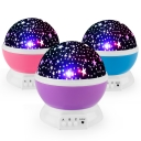 Plastic Switch On Twinkling Stars Night Light Projector in Purple/Pink/Blue