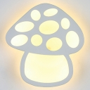 Lovely Mushroom Shade Kids Room Mini Wall Sconce